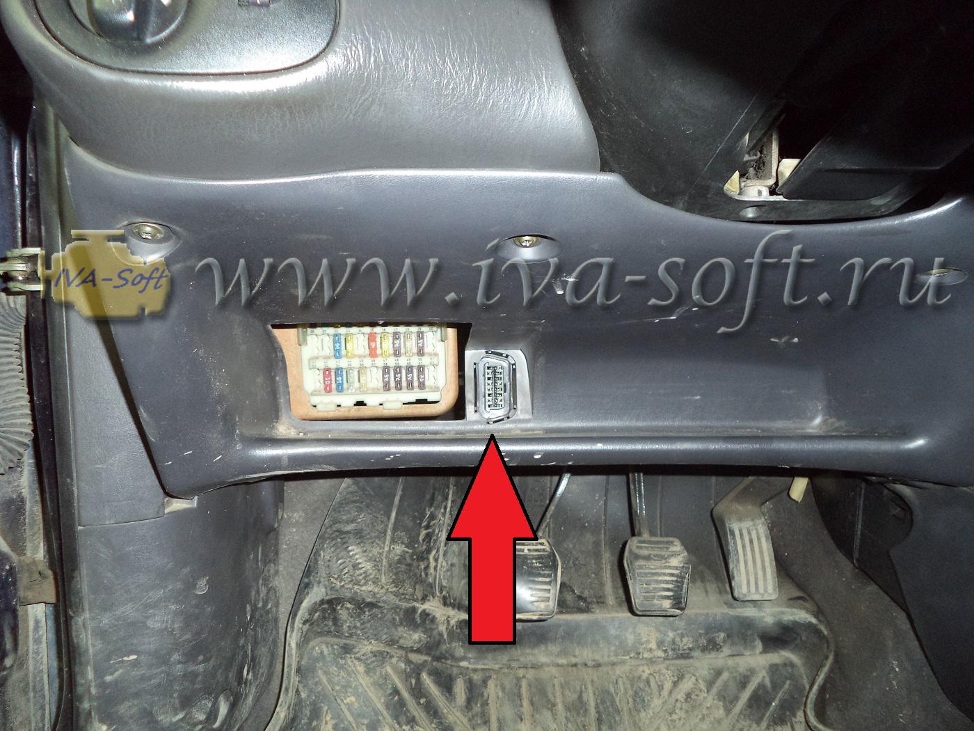 Где находится obd разъем Ford Focus 3. Где в машине?